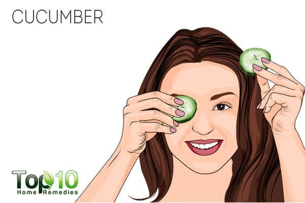 cucumber to get rid of swollen eyes after crying