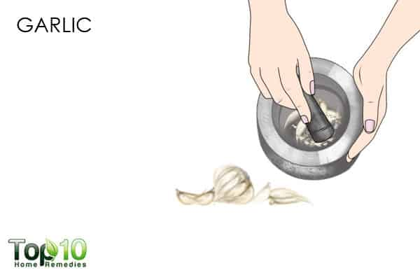 garlic for candidiasis of the skin