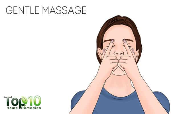 massage to reduce puffy eyes from crying