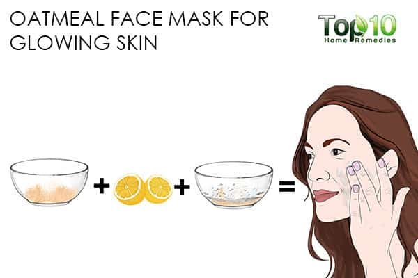 glowing skin use oatmeal face mask for skin problems