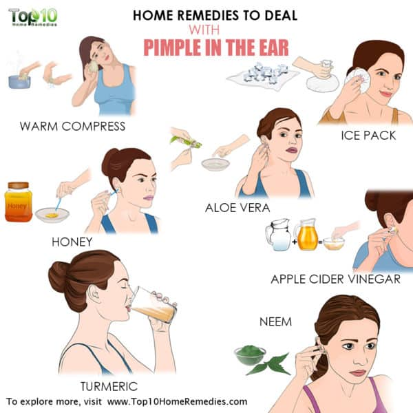 home remedies for pimples on the ear