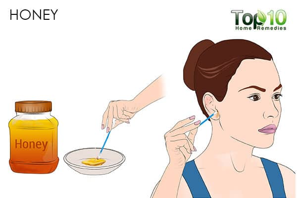 honey for pimples on the ear