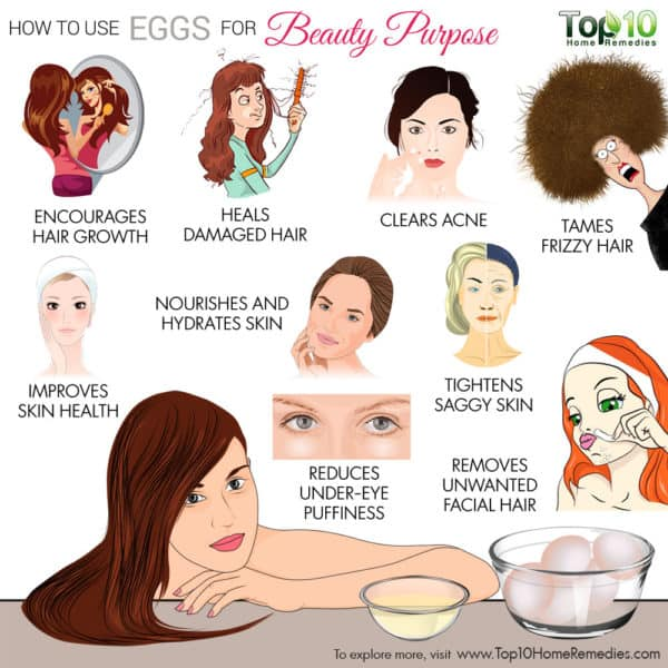 how to use eggs for beauty