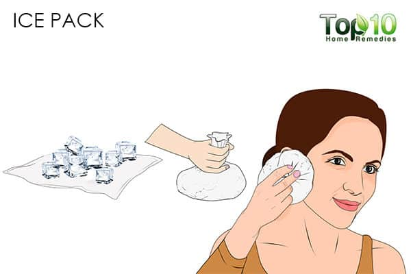 ice pack for pimples on the ears