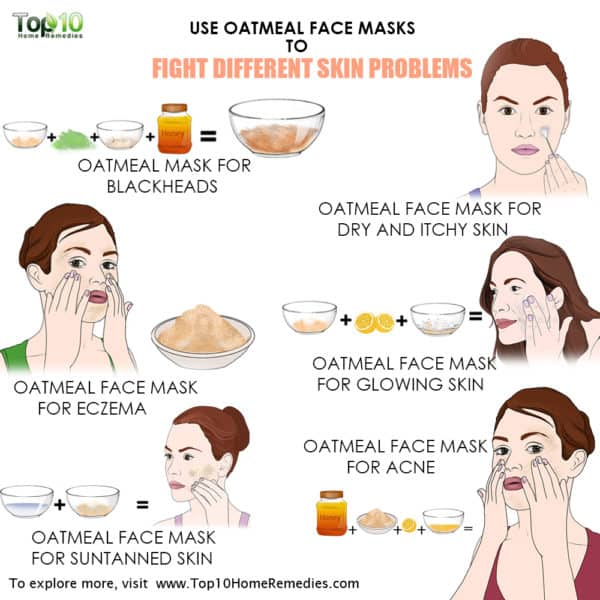 main image use oatmeal face mask for skin problems