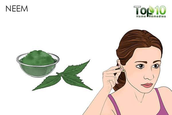 neem treats pimples in ears