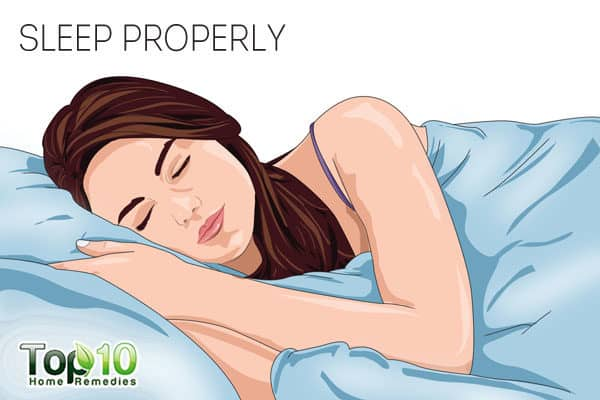 get proper sleep to reduce endereye puffiness from crying