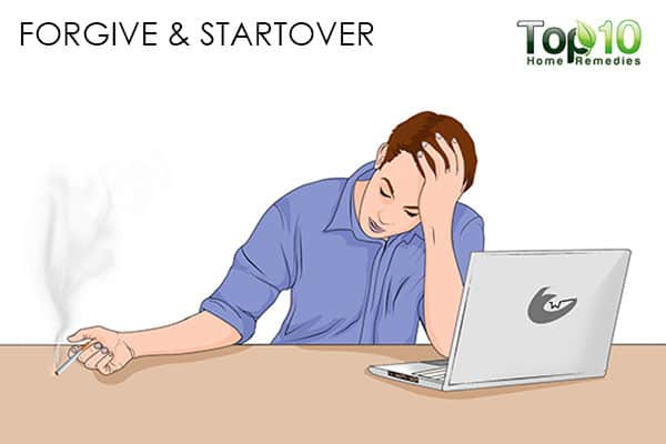 startover to handle smoking relapse