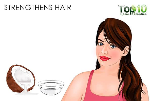 strengthens hair benefits of using coconut oil on hair