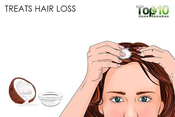 treat hair loss benefits of using coconut oil on hair