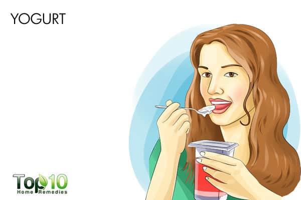 probiotic yogurt to treat candida on skin