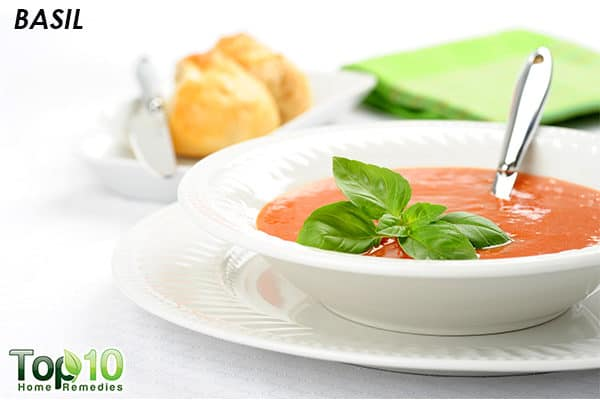 basil to control high blood pressure