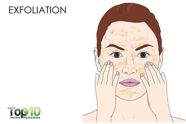 exfoliate your skin to get a glow