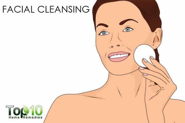facial cleansing for glowing skin