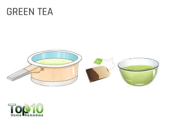 green tea for hormonal acne