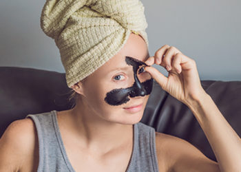 Homemade peel off mask for glowing skin