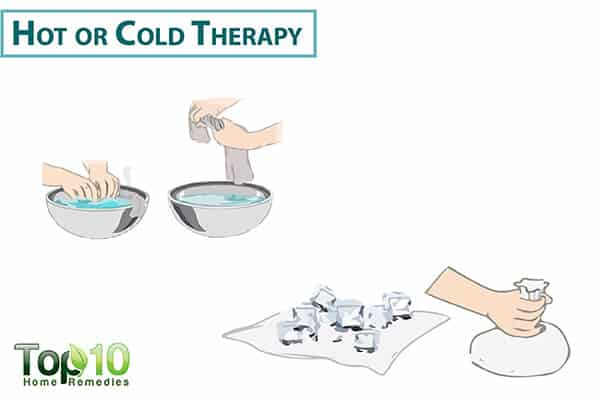 hot and cold therapy for osteoarthritis in hand