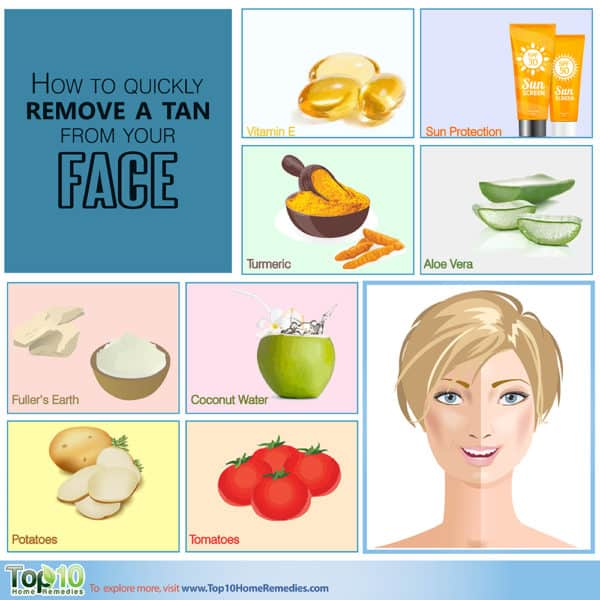 how to quickly remove a tan from face