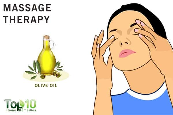 massage for eye pain