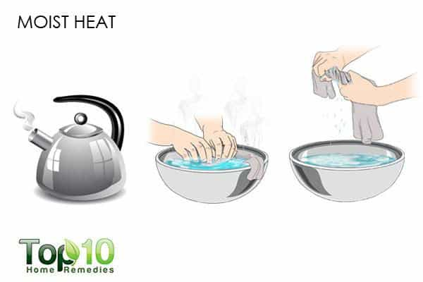 moist heat for sprained thumb