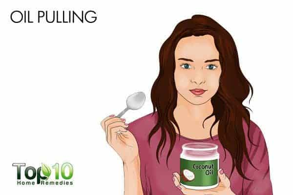 oil pulling to get glowing skin
