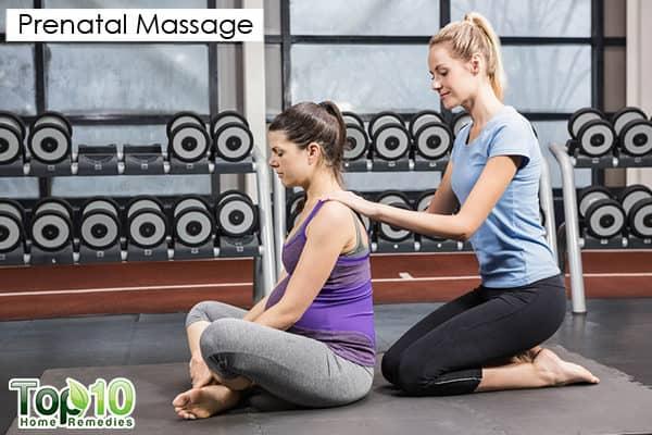 prenatal massage to relieve pregnancy backache