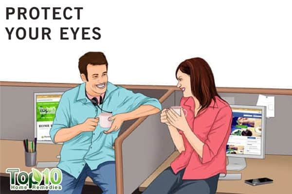 protect your eyes to prevent eye pain