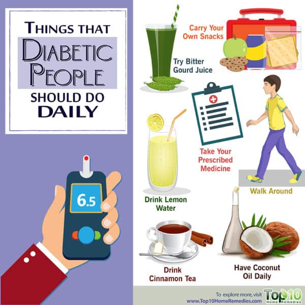 things diabetic people should do daily