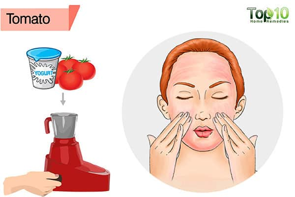 tomato to remove a suntan from face
