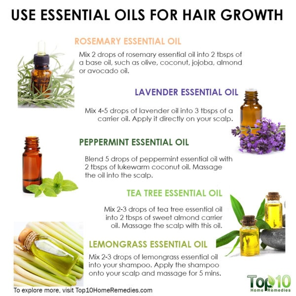 use essential oils for hair growth