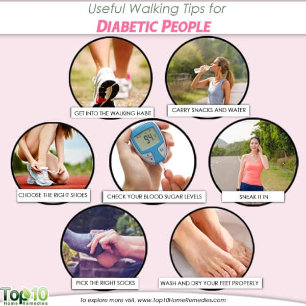 useful walking tips for diabetics