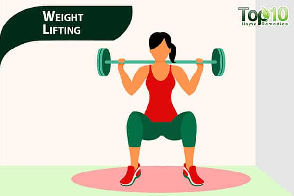 weight training to reduce pot belly