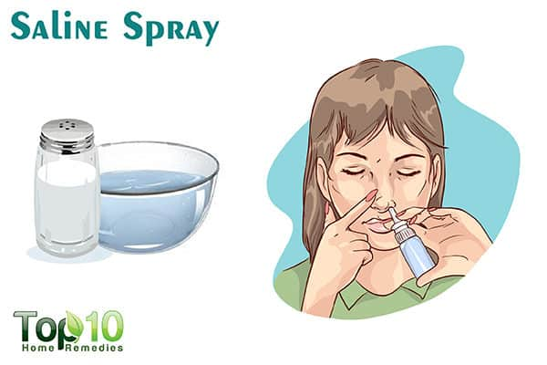 saline spray to prevent nosebleeds during pregnancy