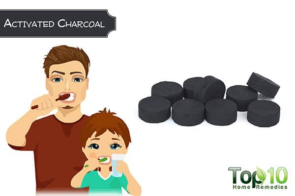 activated charcoal to whiten stained teeth