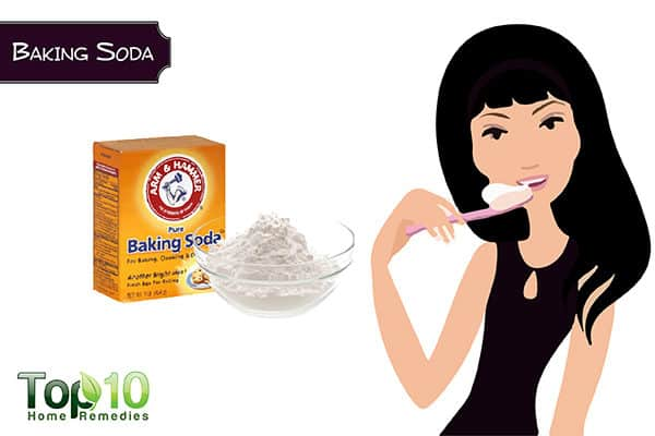 baking soda to whiten yellow teeth