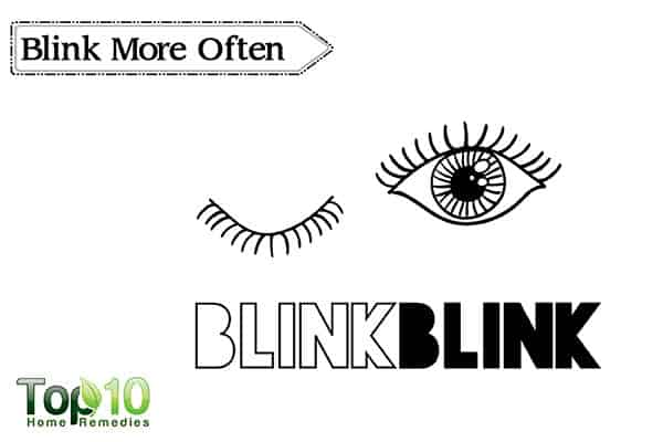 blink more to get rid of red eyes