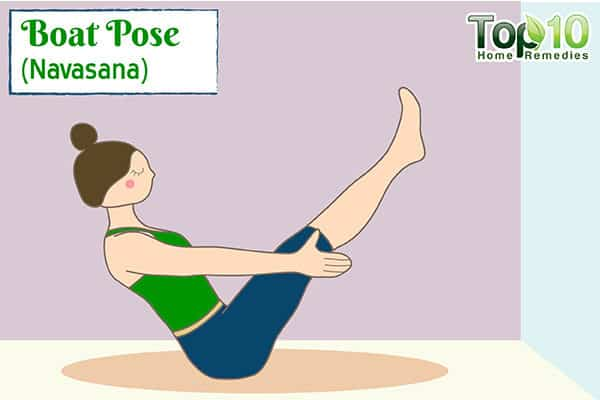 boat pose to improve metabolism