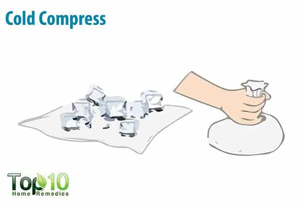 cold compress for itchy feet