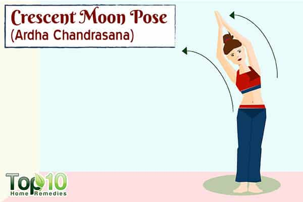 crescent moon yoga pose to boost metabolism