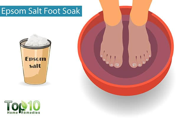 epsom salt soak to reduce foo edema during pregnancy