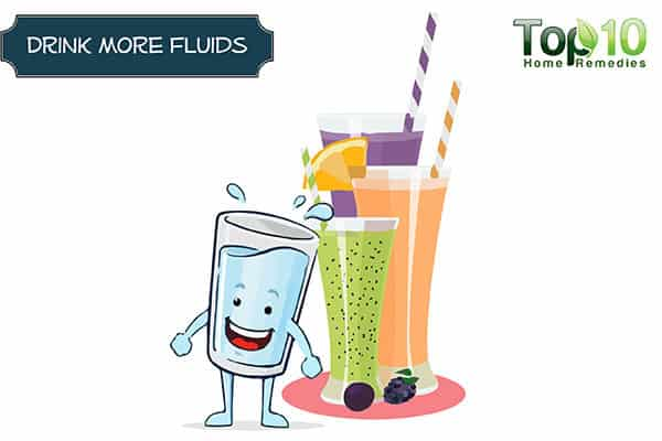 take fluids to reduce undereye bags