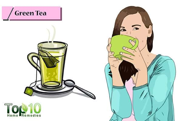 green tea to heal receding gumline