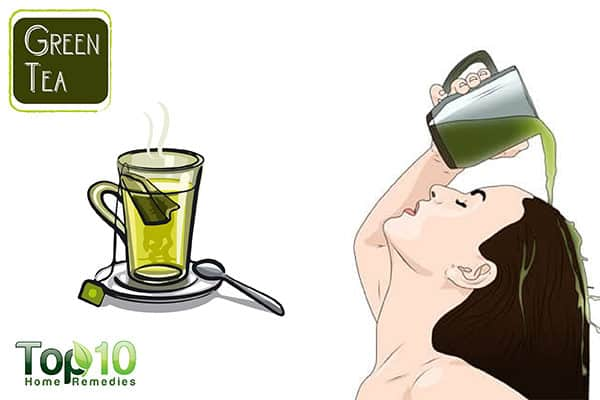 green tea to treat hair loss