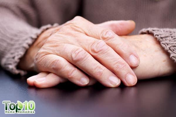 wrinkles on hands