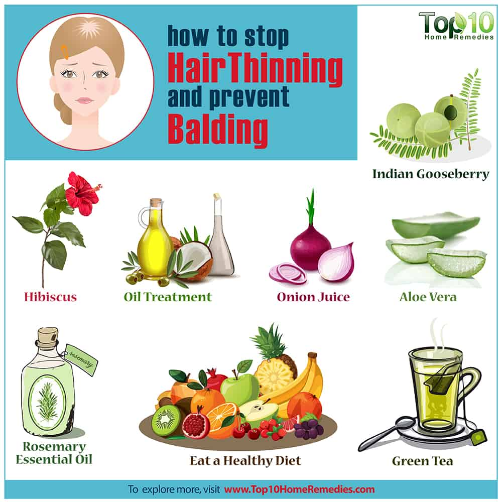 How To Stop Hair Thinning And Prevent Balding Top 10 Home Remedies