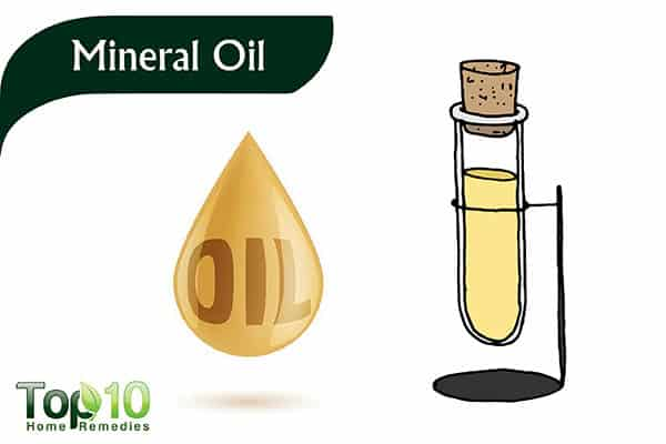 eat mineral oil to soften stools