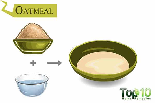 oatmeal to reduce itching from insect bite