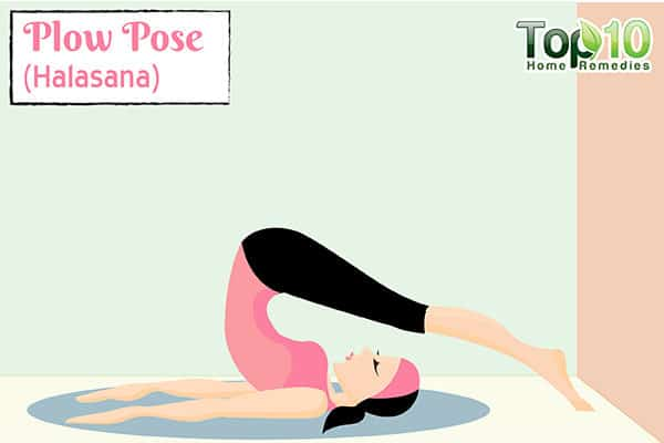Plow Pose (Halasana) to increase metabolism