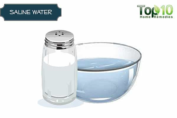 saline water for under eye bags