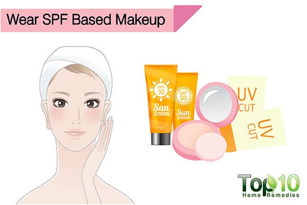 wear SPF based makup to avoid sun damage